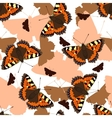 Butterflies seamless pattern vector image