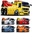cartoon tow truck one-click repaint vector image vector image