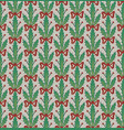 christmas pattern with festoons of holly leaves vector image