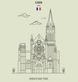 church of saint-pierre in caen vector image vector image
