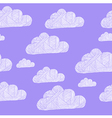 cloud purple vector image vector image