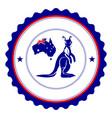 colored australian label vector image
