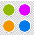 Colorful Empty Circle Stickers - Labels Set on vector image vector image