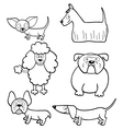 Coloring book with cartoon dogs vector image vector image