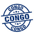 congo blue round grunge stamp vector image vector image