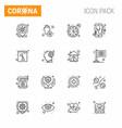 corona virus disease 16 line icon pack suck vector image vector image