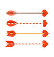 cupids arrows vector image vector image
