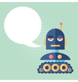 Design robot says something vector image