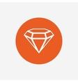 Diamond sign icon Jewelry symbol Gem stone vector image vector image