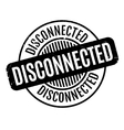 Disconnected rubber stamp vector image vector image