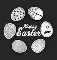 easter eggs with doodles pattern vector image vector image