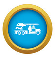 fire engine icon blue isolated vector image vector image