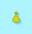 Flat Icon of Canvas Bag Money vector image vector image