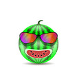 fresh sweet natural ripe watermelon icon with vector image vector image