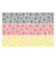 germany flag collage of target bullseye icons vector image