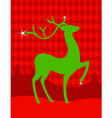 green christmas deer vector image vector image