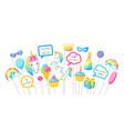 happy birthday photo booth props fantasy items vector image vector image