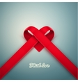 Heart from Ribbon vector image vector image
