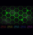 hexagon background six isolated variants of color vector image vector image