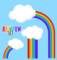 icon set color rainbow with clouds vector image vector image