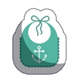 Isolated baby bib design vector image