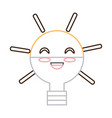 kawaii light bulb icon vector image