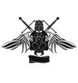 knight skull vector image