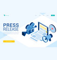 landing page press release vector image