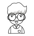 line man teacher with hairstyle and uniform vector image vector image