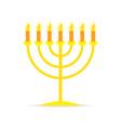 menorah hanukkah icon vector image vector image