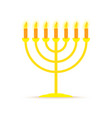 menorah hanukkah icon vector image