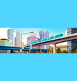 modern urban panorama with high skyscrapers and vector image vector image