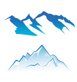 Mountain set vector image vector image