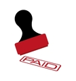paid seal rubber isolated icon vector image vector image