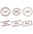 pdf stamps vector image vector image
