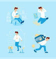 person and money collection flat vector image