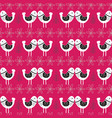 pink scandinavian love birds pattern design vector image