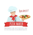 Pizza maker label vector image vector image