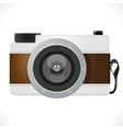 Retro camera isolated on white background vector image vector image