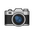 Retro Photo Camera Icon on White Background vector image