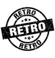 retro round grunge black stamp vector image vector image