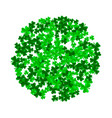 saint patrick day background with trefoil clover vector image