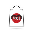 sale icon in red color vector image vector image