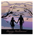 Scarecrows silhouette at sunset vector image vector image
