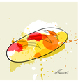 stylized bread vector image vector image