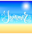 summer time hand drawn brush pen lettering vector image vector image