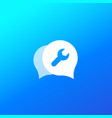support chat icon for web vector image