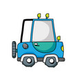 tractor farm vehicle plant transport vector image vector image