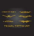 Tribal design elements and tattoo ornaments set