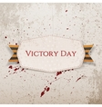 victory day white paper banner vector image
